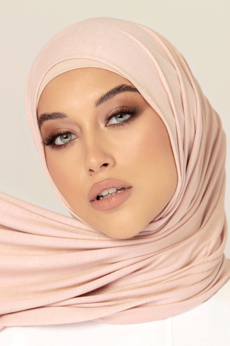 Luxury Jersey Hijab - Blush