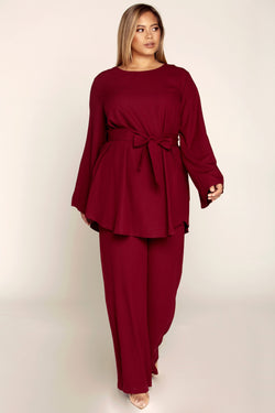 Nadia Everyday 2 Piece Set - Burgundy