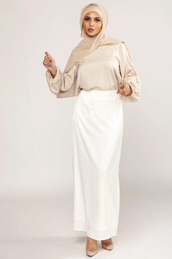 Sadie White Maxi Skirt