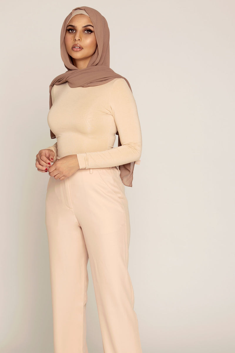 Sand High Waist Straight Leg Pants