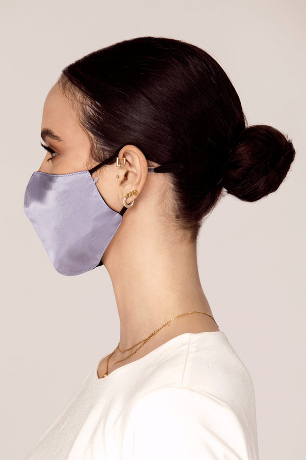 Satin Face Mask - Slate