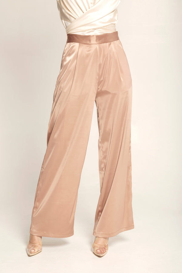 Sienna Satin High Waist Pants