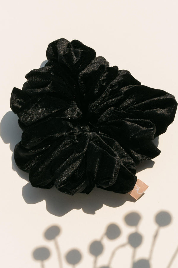 Volume Scrunchie - Black Velvet
