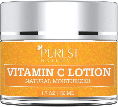 Purest Naturals Anti-Aging Vitamin C Facial Moisturizer Lotion - Best Face Wash For Skin Brightening & Sun Protection - With Green Tea, Hydrating Jojoba Oil & MSM