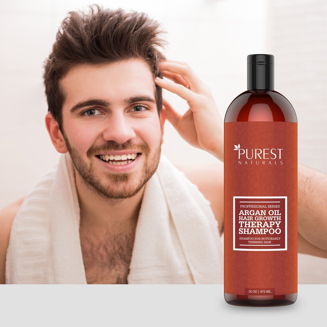 Purest Naturals Organic Argan Oil Hair Loss Shampoo For
