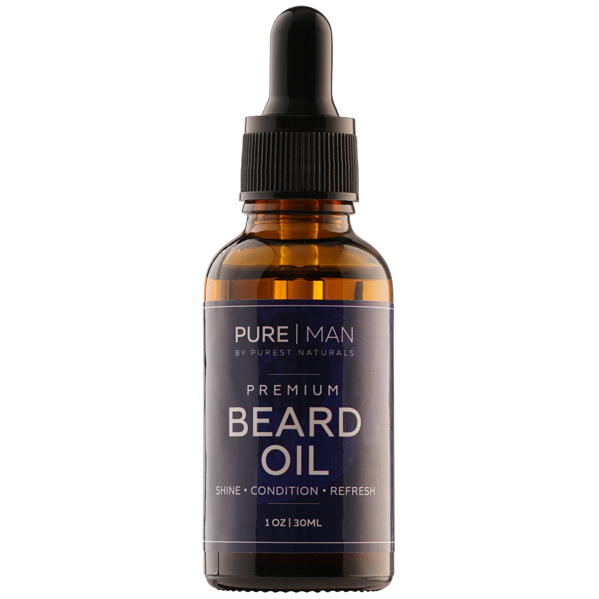 Purest Naturals Organic Beard Oil & Leave-In Conditioner -100% Natural - Best For Groomed Beard Growth, Mustache - Softens & Hydrates Your Beard, Skin & Hair - Stops Itching & Treats Acne