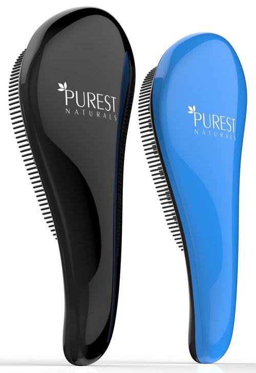 Purest Naturals Original Detangling Hair Brush Set - Best Detangler Wet Shower Comb For Women, Men, Girls & Boys - Detangles Knots Easily
