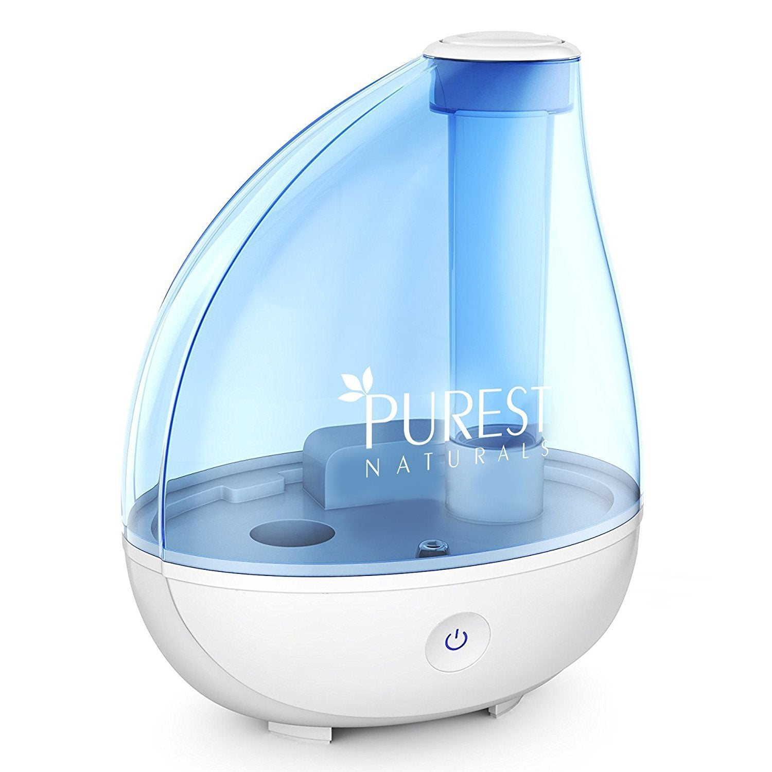 Purest Naturals Ultrasonic Cool Mist Humidifier Portable Humidifiers Air Purifier with Whisper-quiet Operation, Automatic Shut-Off, and Night Light Function 1.7L Large Capacity - Runs For 16+ Hrs