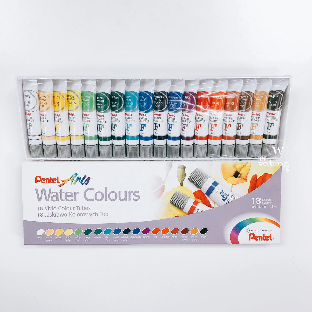 Pentel Watercolour - Set of 18