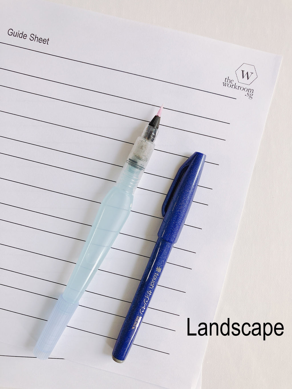 Brush Lettering Landscape Guide Sheet - PDF Download