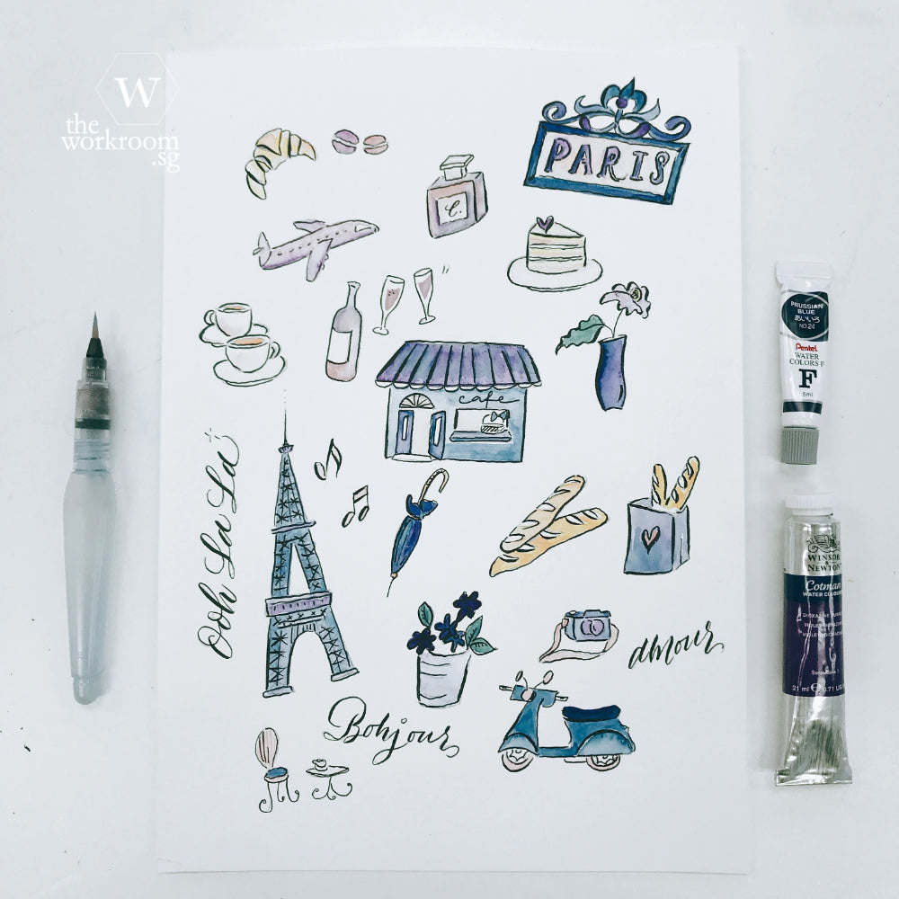 Watercolour Paris - Workshop for Beginners