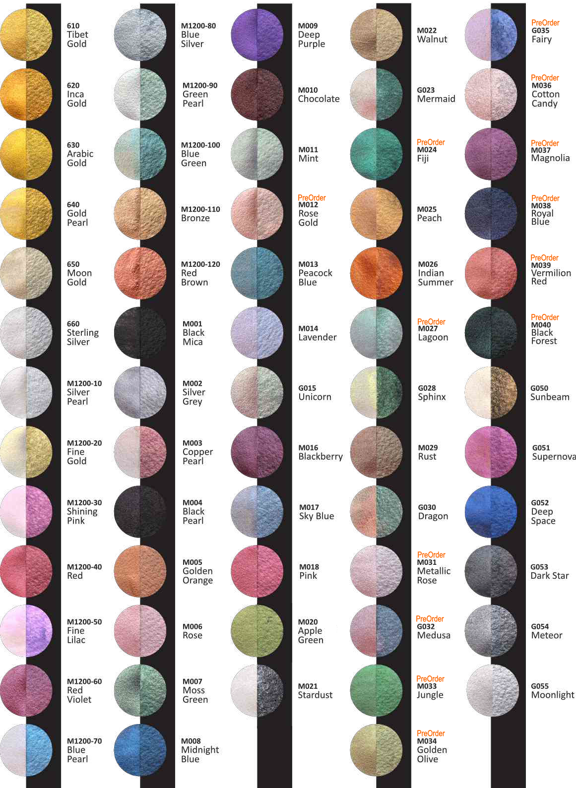 Finetec Pearl Colours