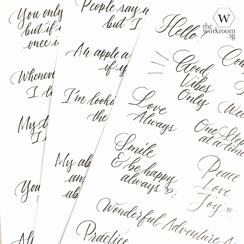 Resource — Brush Lettering Exercises PDF