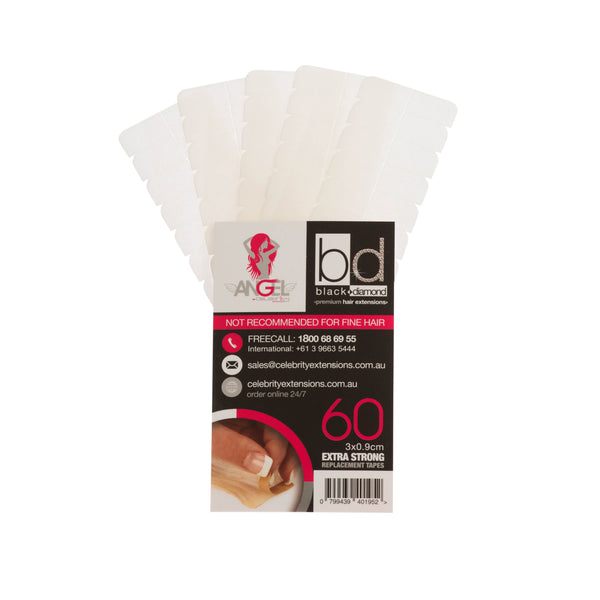 Angel Replacement Tapes Extra Strong Slimline 3x9cm Qty60