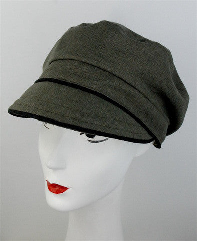 Khaki colored cap, made to order - mariacurcic - 3