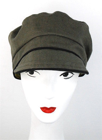 Khaki colored cap, made to order