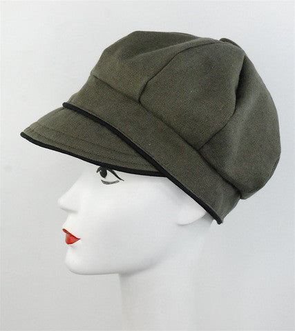 "Stylish sectional cap, made to order in ""khaki"" color - mariacurcic - 1"