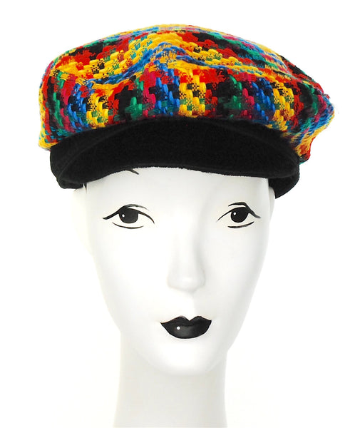 Colorful Tweed cap with black peak - mariacurcic - 2