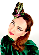 Adorable headpiece/fascinator with velvet feathers and flowers