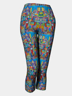 "Art to wear Capris, ""City Sparkle"""