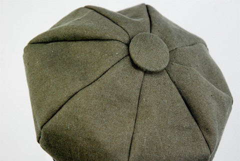 "Stylish sectional cap, made to order in ""khaki"" color - mariacurcic - 3"