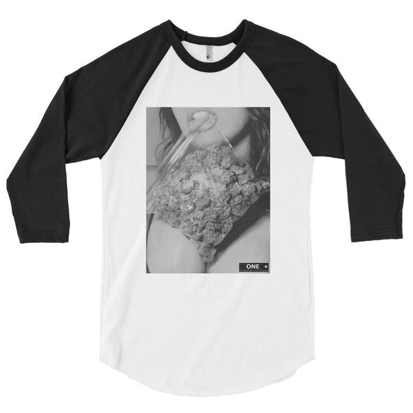 Munchies 3/4 sleeve raglan shirt