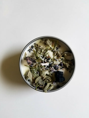 House of Good JuJu - Sacred Space Smudge Candle - The Niche Naturals