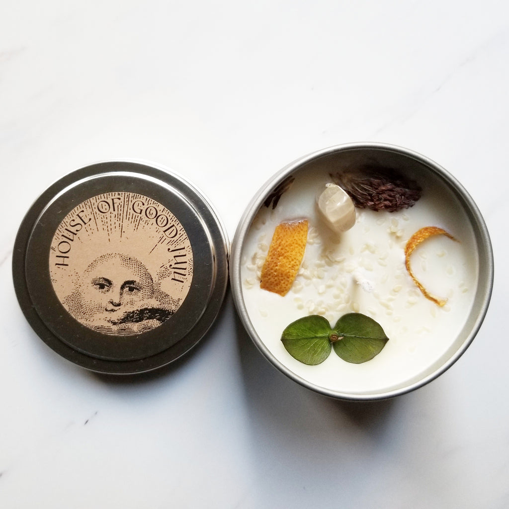 House of Good JuJu - New Moon - New Beginnings Candle - The Niche Naturals