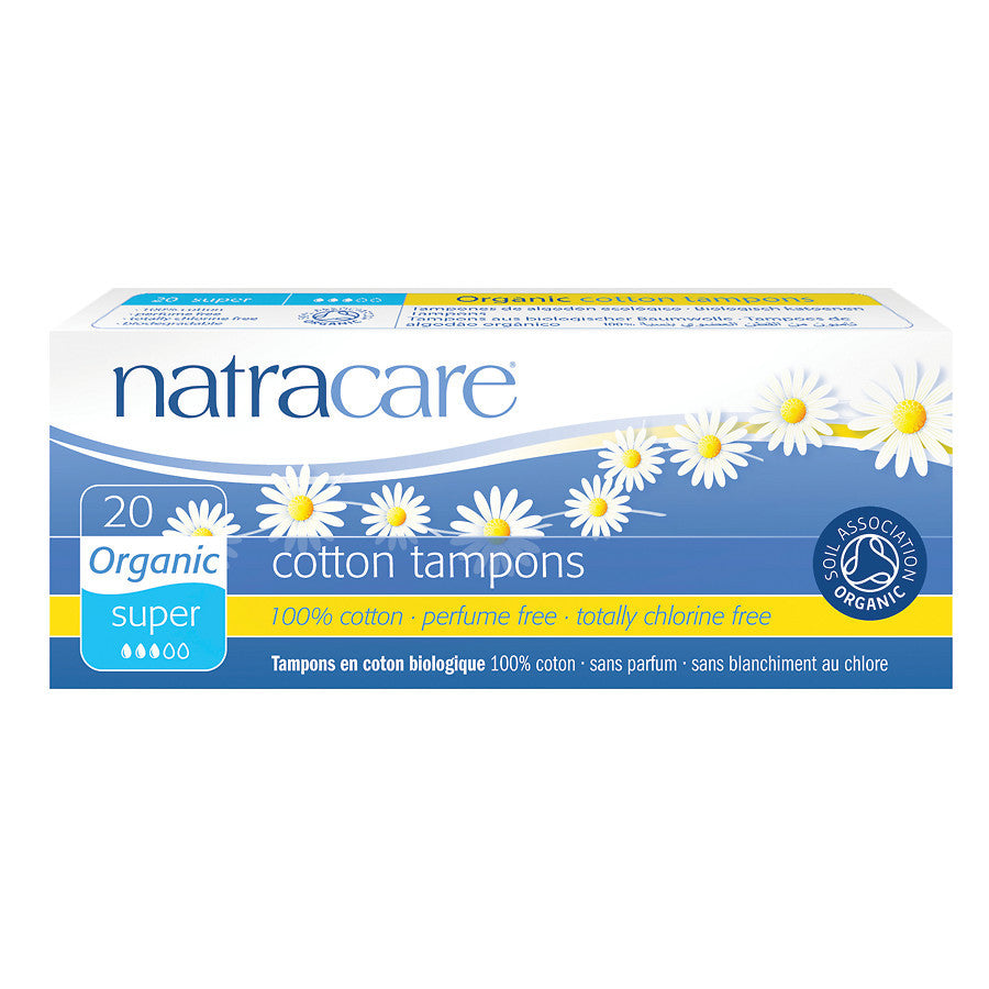 Natracare Organic All-Cotton Super Tampons - The Niche Naturals