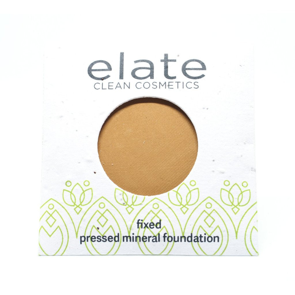 Elate Fix Pressed Powder Foundation - Tawny - The Niche Naturals