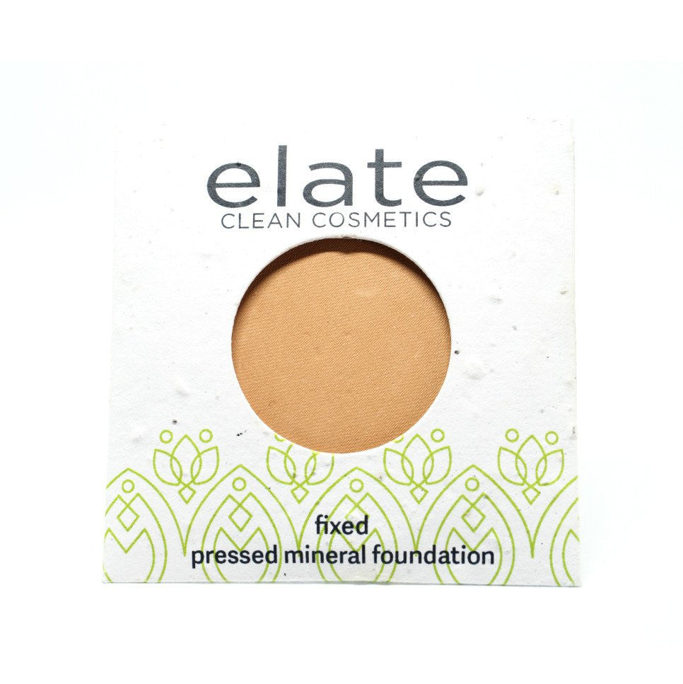 Elate Fix Pressed Powder Foundation - Flaxen - The Niche Naturals