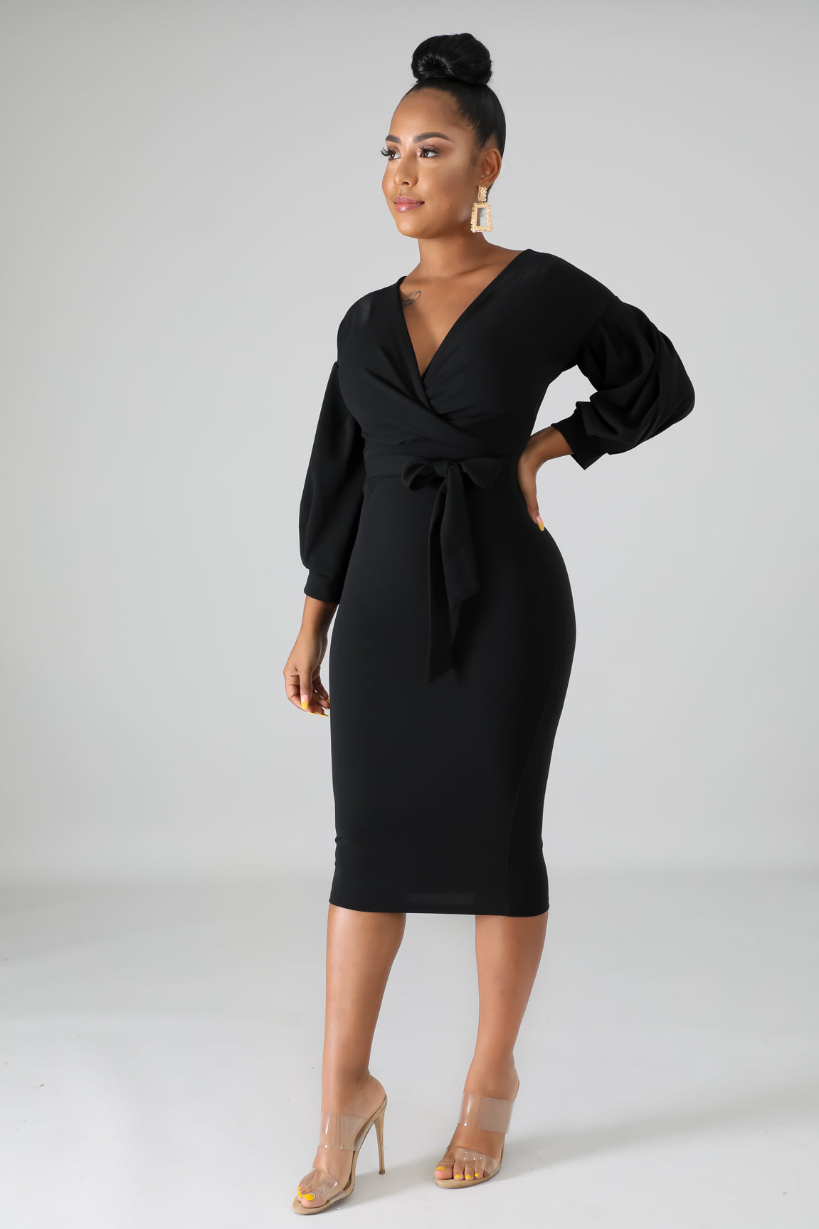 SOPHISTICATED MIDI DRESS