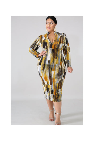 The GOLDEN STREAK Dress
