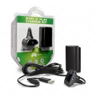 Stay N Play Controller Charge Kit for Xbox 360 Black
