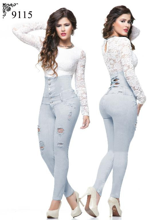 9115 High Waisted Butt Lift Jeans