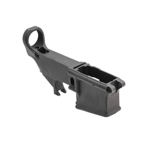 MDX Arms 7075-T6 80% AR15 Lower Anodized with Open Trigger Guard front side