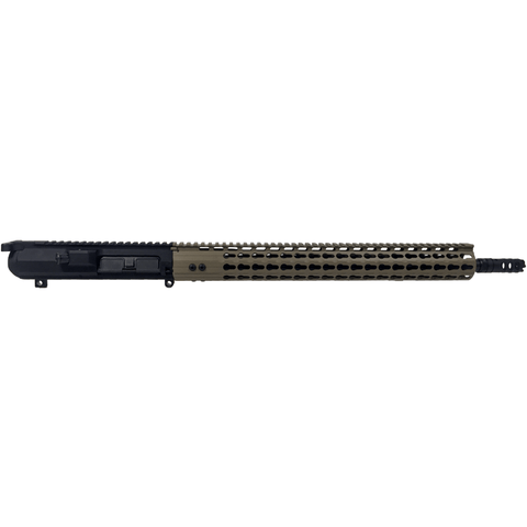 "MDX Arms 18"" .308 Win (DPMS Style) 17"" Tan Keymod HG Mid Length with Lantac MB Complete Upper - MDX Arms"