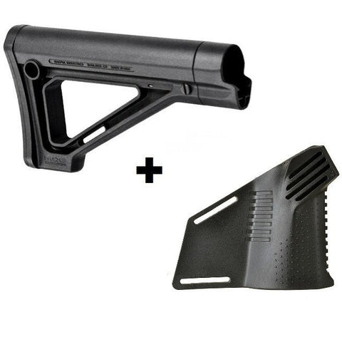 MDX Featureless Combo#2 Magpul MOE Carbine Stock with Strike Megafin Grip