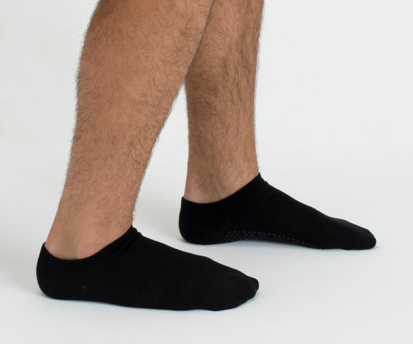 Classic Black Low Rise Non Slip Grip Socks