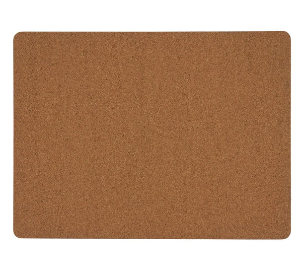 Fennco Styles Natural Wood Print Decorative Cork Placemats, Set of 4