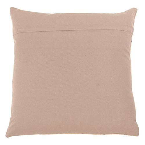 Fennco Styles Charlie Collection Rustic Checkered 20 x 20 Inch Cotton Down Filled Decorative Throw Pillow