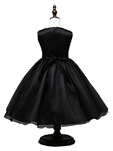 Styles I Love Little Kid Girls Sleeveless Sequin Tulle Flower Girl Dress Wedding Pageant Party Dresses 1-8Y, 5 Colors