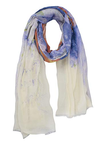 StylesILove Spring Summer Butterfly Print Lightweight Cotton Scarf Wrap Shawl for Women