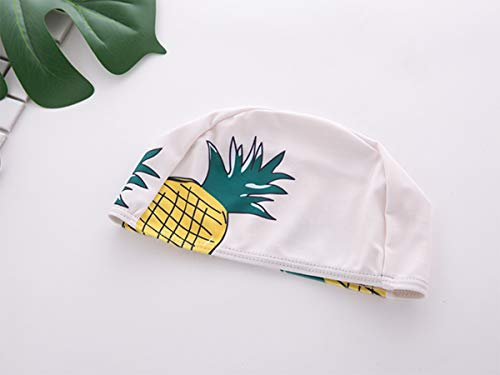 Styles I Love Little Boys Pineapple Print One-Piece Rash Guard Swimsuit with Swim Hat 2pcs Bathing Suit Beach Swimwear