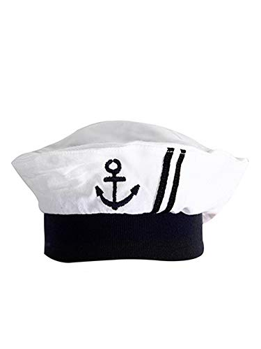 stylesilove.com Baby Boy Marine Sailor Cotton Romper Onesie with Hat and Necktie 3pcs Holiday Outfit Costume