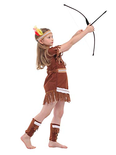 stylesilove Adorable Little Girls Indian Girl Halloween Costume Themed Party Cosplay Outfit