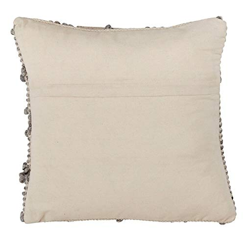 Fennco Styles Diamond Weave Wood Blend Down Filled 18 Inch Square Cotton Decorative Throw Pillow