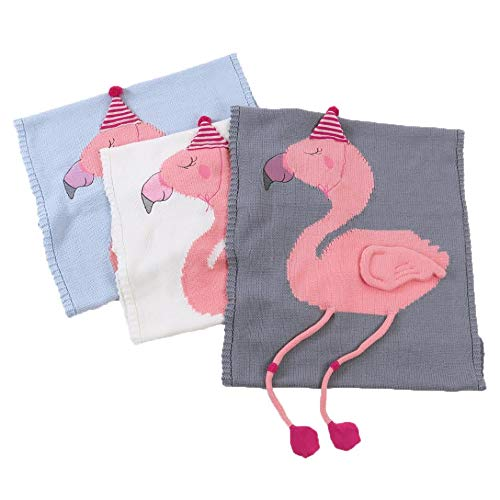 Fennco Styles Baby Kids Lovely and Cozy Unicorn Flamingo Knitted Cotton Crib Nursery Throw Blanket Cover Wrap Child Room Decorations