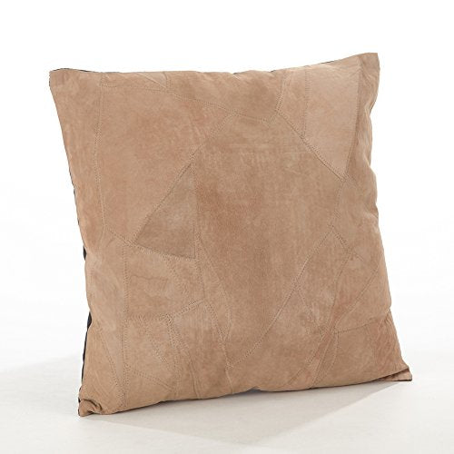Fennco Styles Classic Genuine Leather Lumbar Filled Throw Pillow