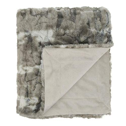 "Fennco Styles Luxury Faux Mink Fur Throw Blanket 50"" W x 60"" L, 2 Colors"